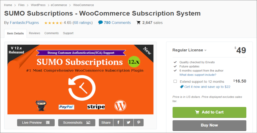 add SUMO Subscriptions to woocommerce