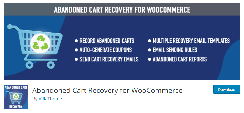 Abandoned Cart Recovery For Woocmmerce