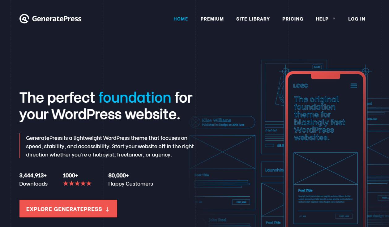 WordPress Website Builders GeneratePress
