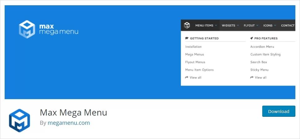 Adding mega menu on wordpress