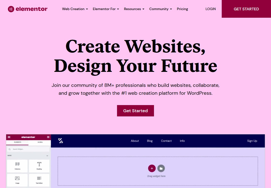 wordpress website builder elementor