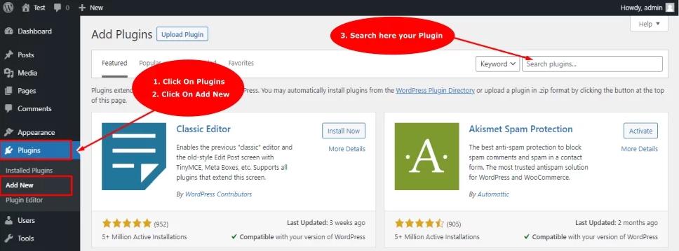 Install WordPress Plugins using manual method